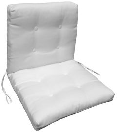 French Edge Chair Cushion with Plastic Buttons and Ties