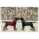 Liora Manne Frontporch Holiday Ice Dogs Indoor/Outdoor Rug Multi