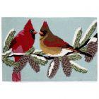 Liora Manne Frontporch Cardinals Indoor/Outdoor Rug Sky