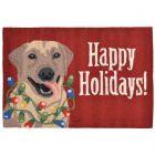 Liora Manne Frontporch Happy Holidays Indoor/Outdoor Rug Red