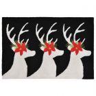 Liora Manne Frontporch Reindeer Indoor/Outdoor Rug Black