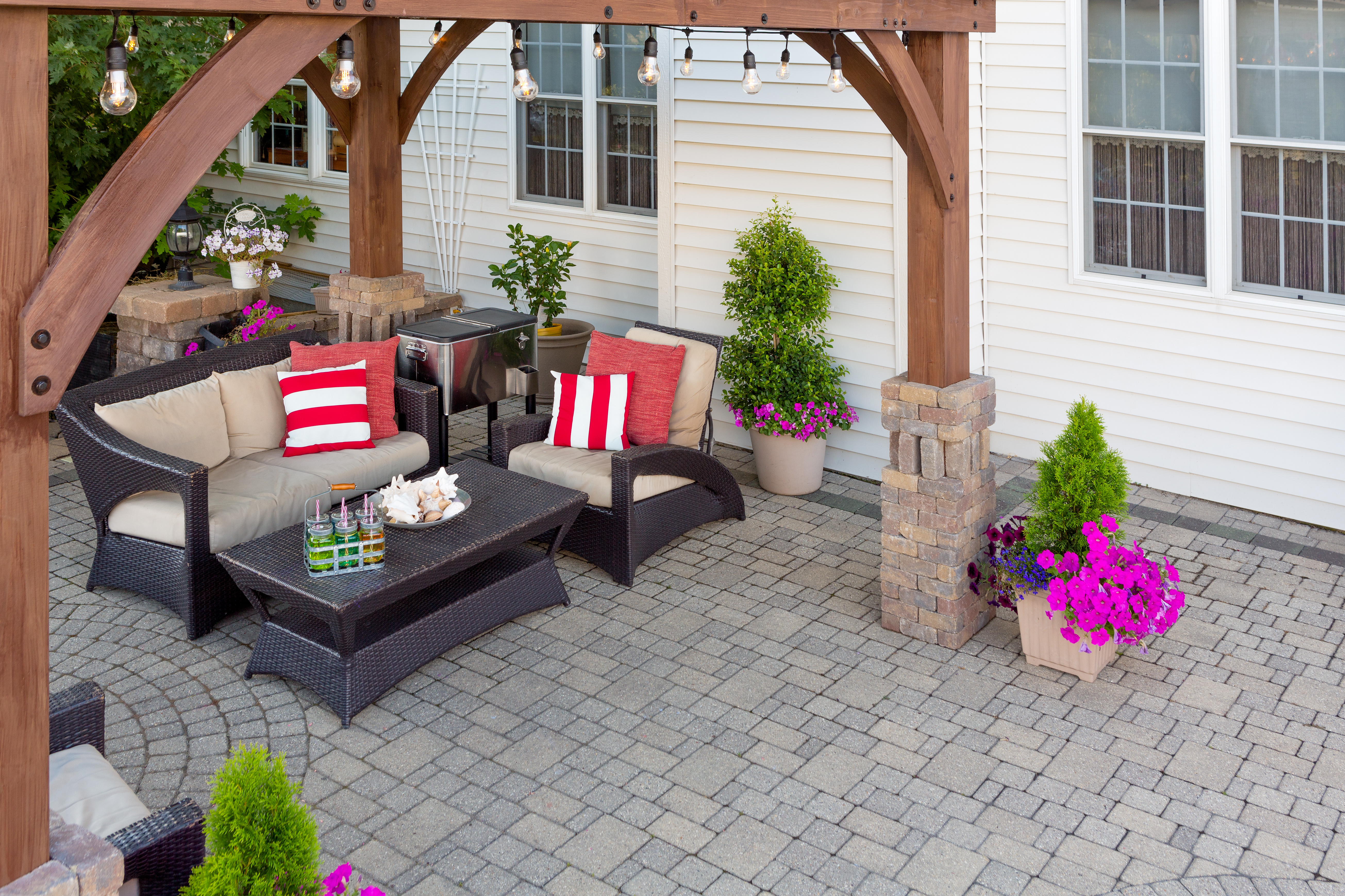 How can I make my patio cushions, outdoor art, and curtains last longer?