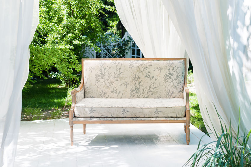 Protect patio cushions, outdoor art, and curtains from the elements.